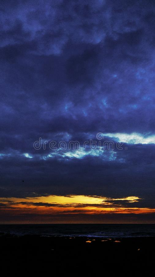red_sky imagem de stock royalty free