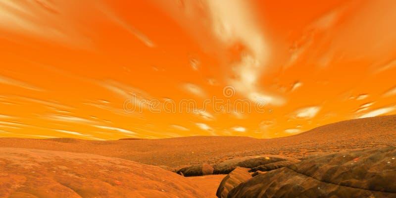 Red sky stock illustration
