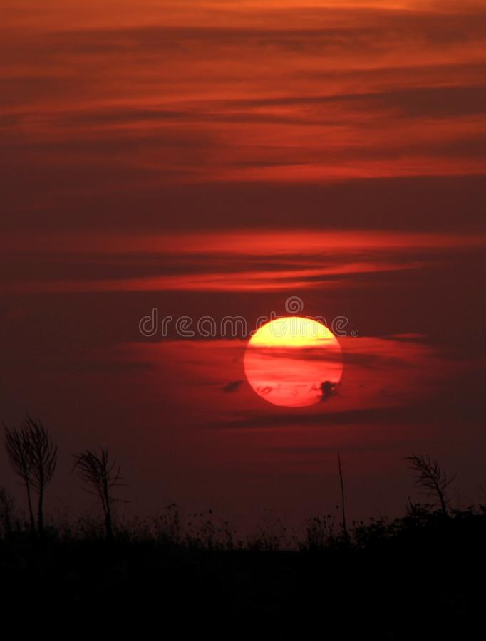 Red, Sky, Afterglow, Red Sky At Morning stock image