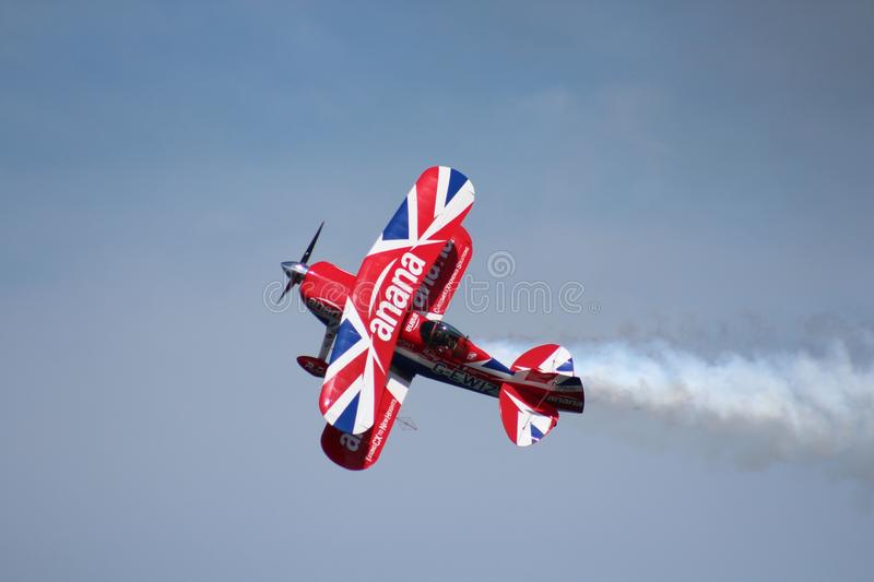 Red, Sky, Airplane, Air Racing royalty free stock image