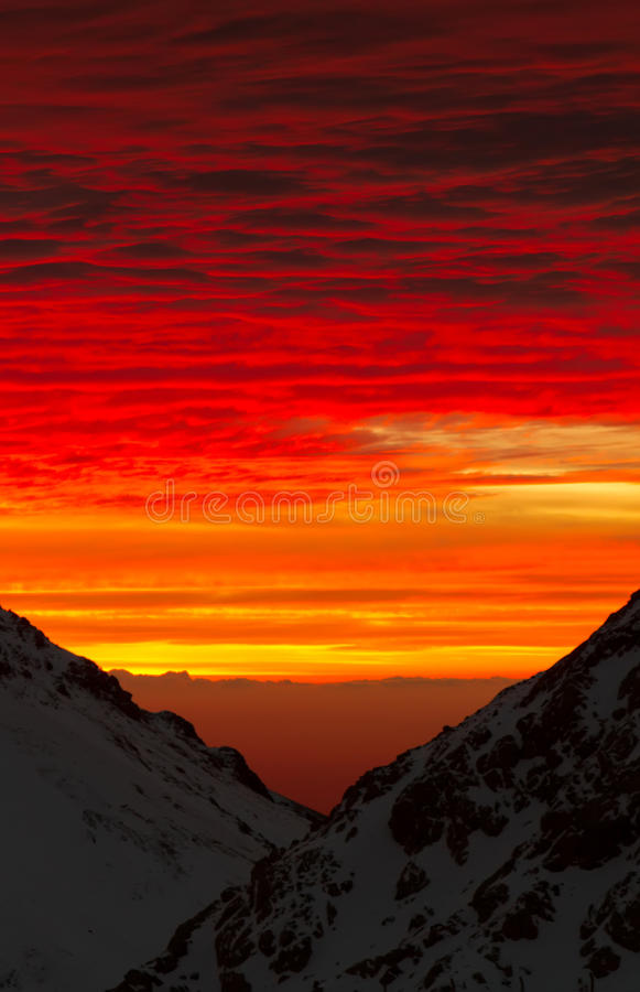 Red sky stock image