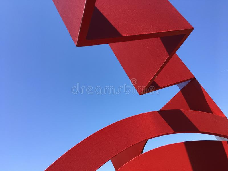 Red, Sky, Daytime, Line stock photos