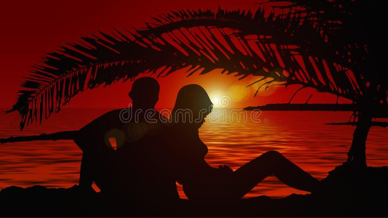Red, Sky, Silhouette, Sunset royalty free stock photography