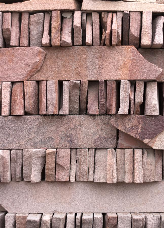 Red Slate Stone Wall background Texture. Close up royalty free stock images