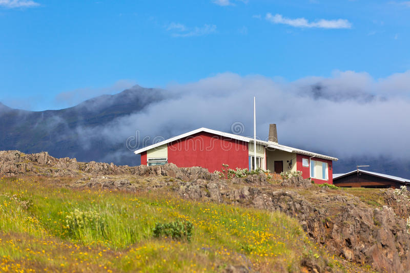 Download Red Small House In East Iceland Stock Photo - Image: 27933824
