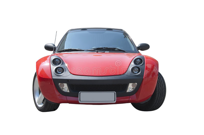 Red Smart Roadster sports car stock photography