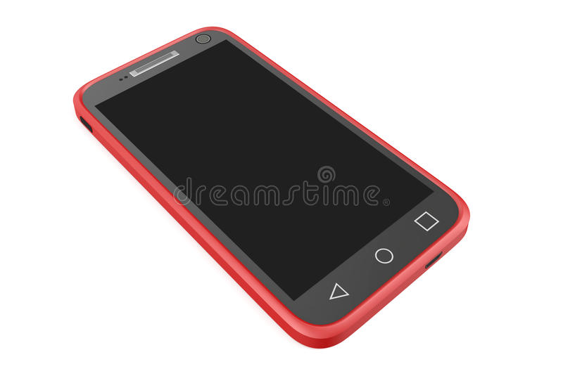 Red smartphone vector illustration