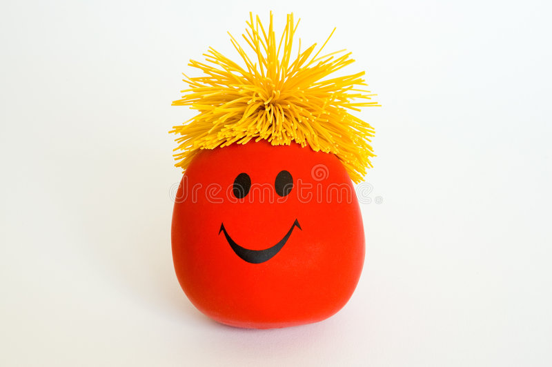 Red Smiley Face Stock Photography