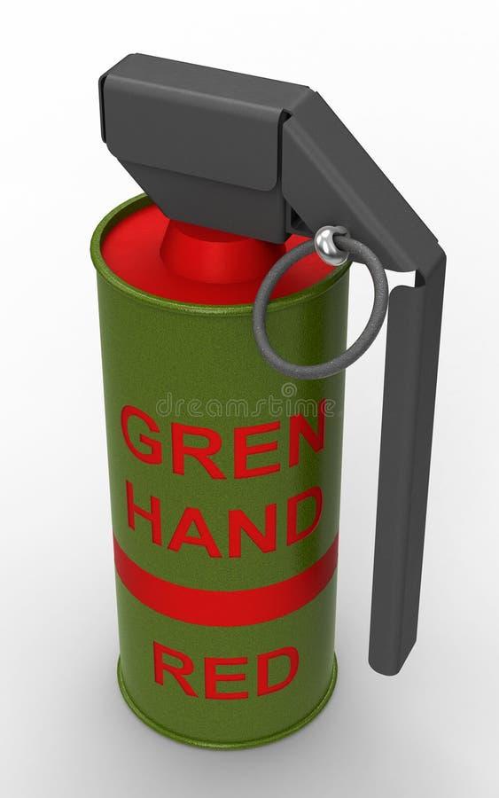 Red Smoke hand-grenade stock photo