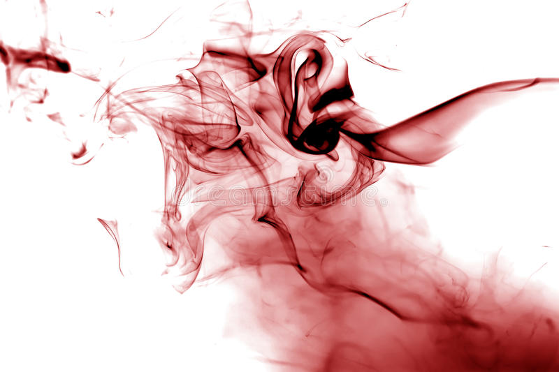 Red smoke. Movement stock illustration