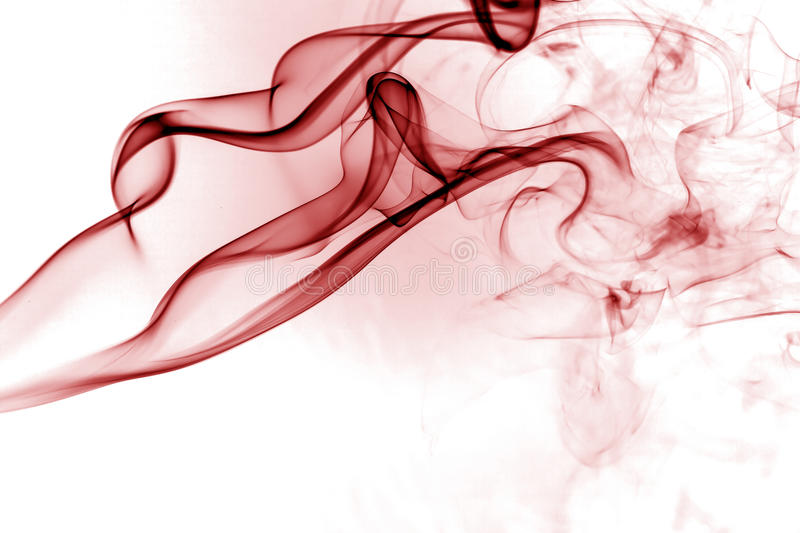 Red smoke. Movement on white background royalty free illustration