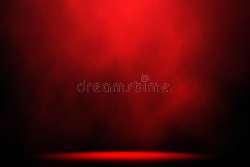 Red smoke spotlight stage background. Red smoke spotlight on stage background royalty free stock photography