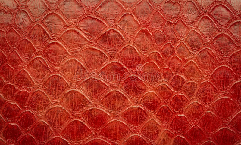 Closeup Of Red Artificial Snake Skin Wallpaper