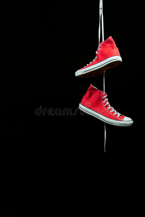 Red Sneakers stock photo
