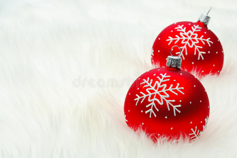 Red Snow Flake Bauble Royalty Free Stock Image
