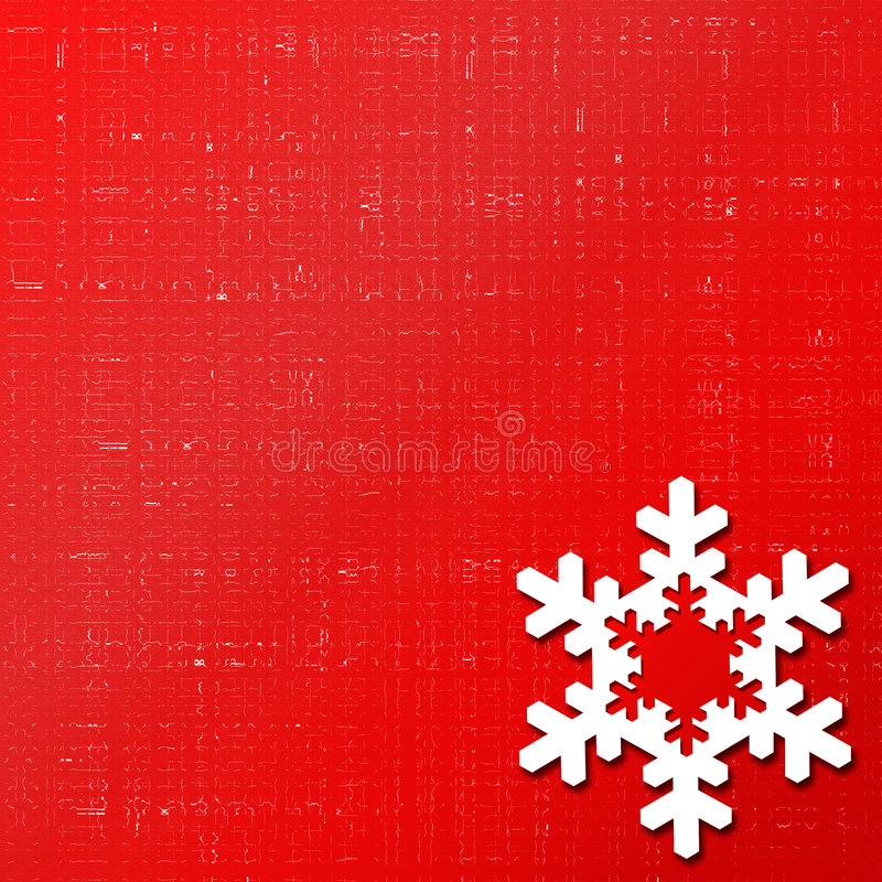 Red snowflake background stock photography