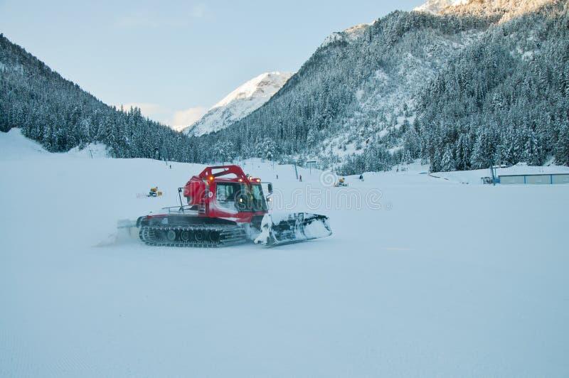 Red Snowplow royalty free stock photos