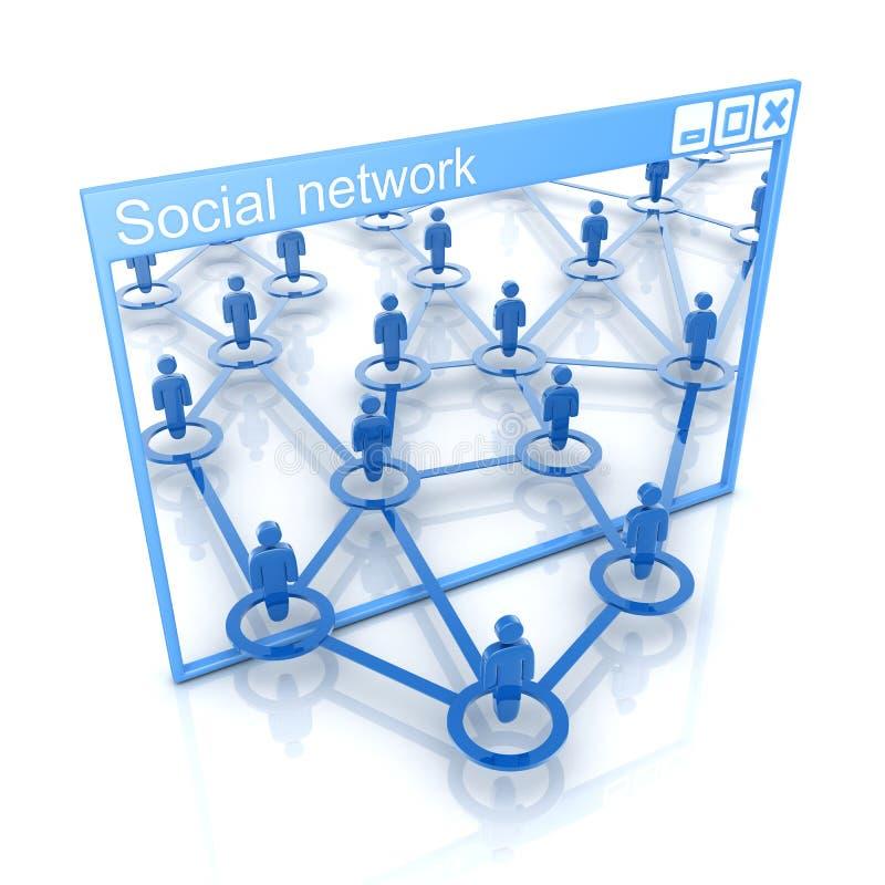 Red social stock de ilustración