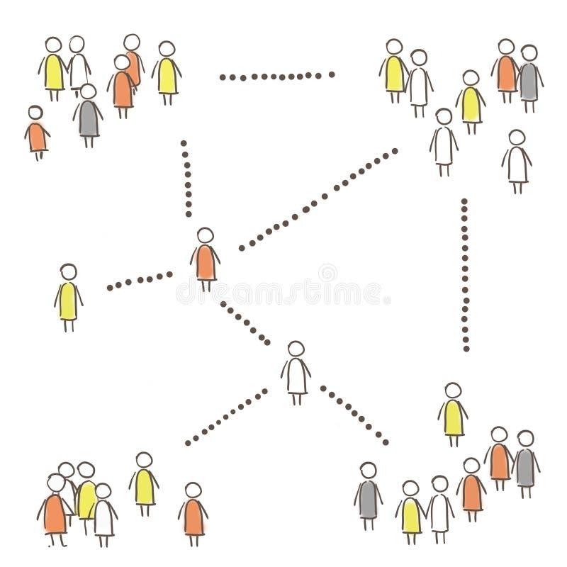 Red social ilustración del vector