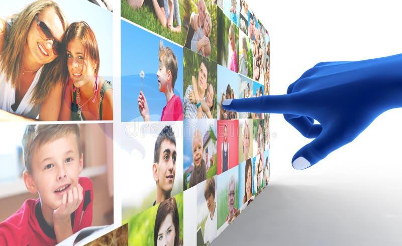 Red social de los media. foto de archivo