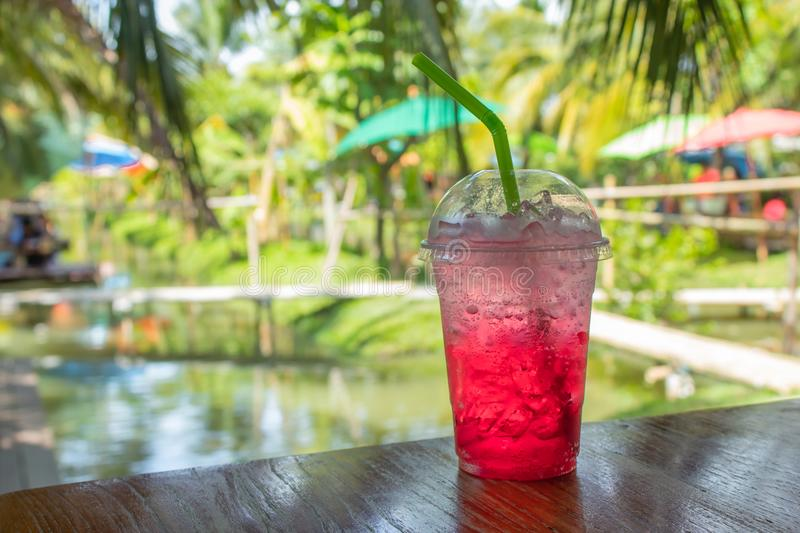 Red soda cold thirst. royalty free stock photography