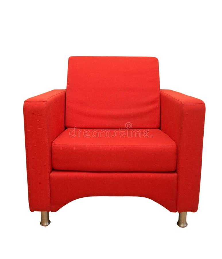 Red sofa. Isolated on white background stock image