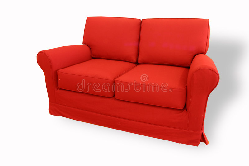Red sofa royalty free stock image