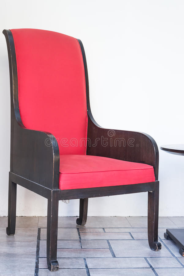 Red sofa bed. Chair royalty free stock photos