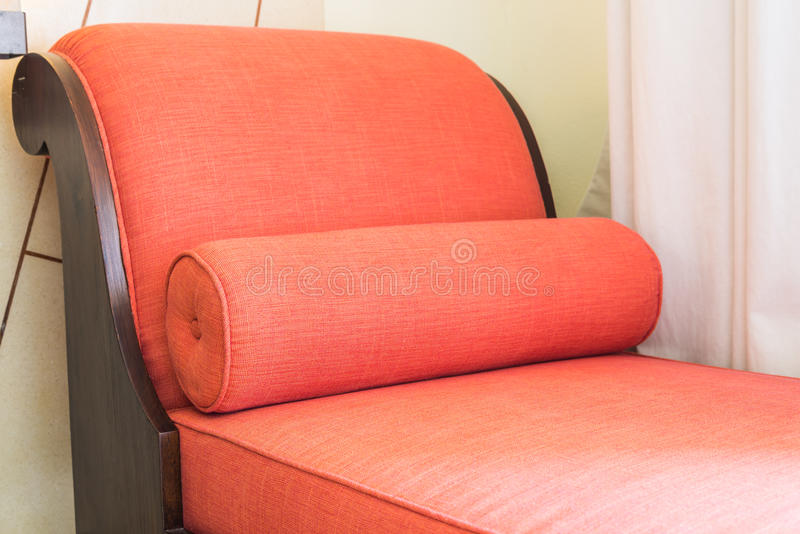 Red sofa bed. Chair royalty free stock image