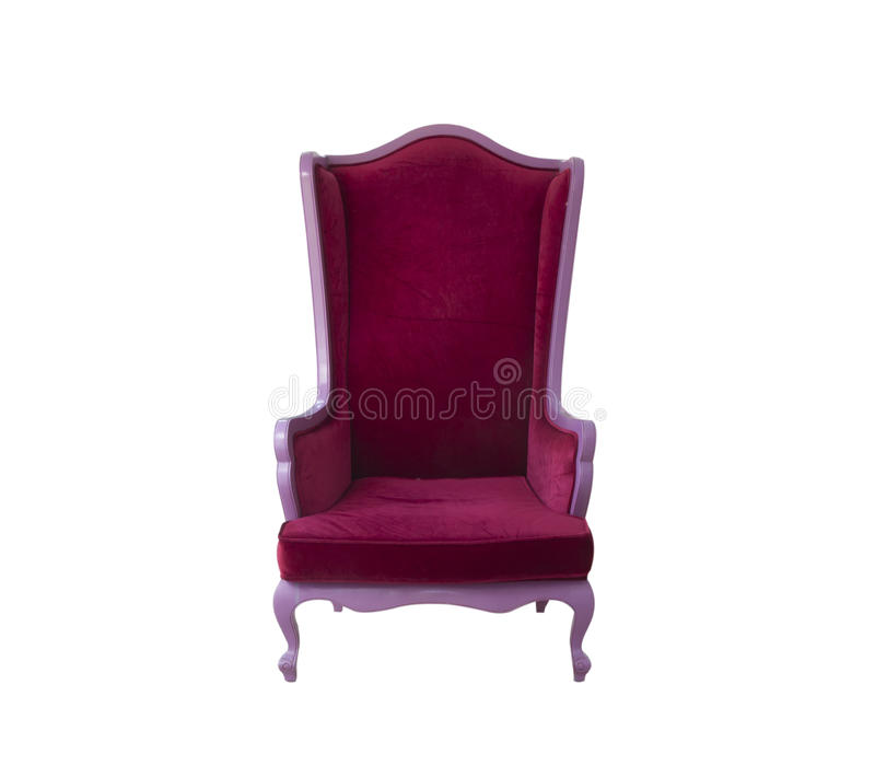 Red sofa chair. Isolated on white background royalty free stock photos