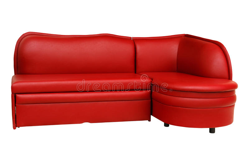 Red sofa. Furniture. stock photography