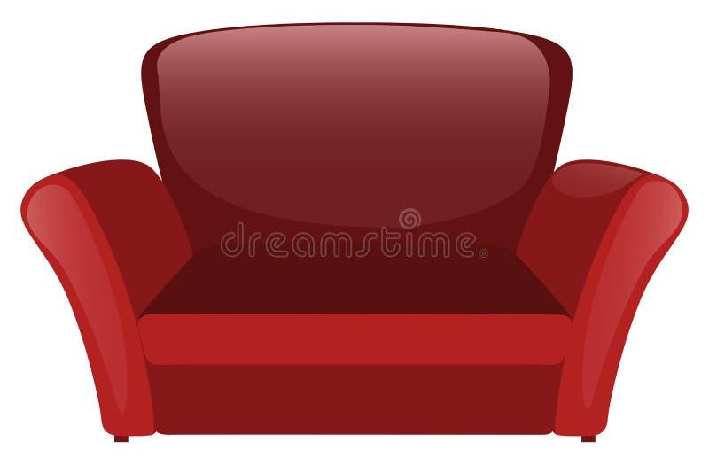 Red sofa on white background. Illustration royalty free illustration