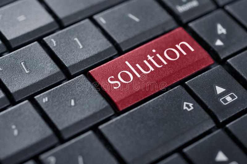 Download Red solution button stock image. Image of system, text - 29169001
