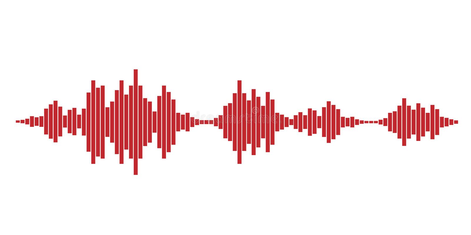 Red Sound Waves Stock Illustrations – 1,223 Red Sound Waves