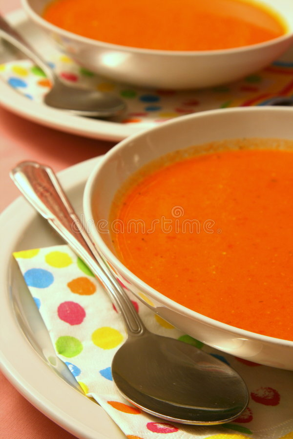 Red soup royalty free stock image