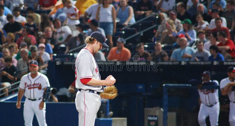 Red Sox pitcher stock photography