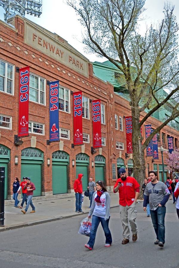 Red Sox smazza vicino a Fenway Park il 20 aprile 2013 a Boston, U.S.A., fotografie stock