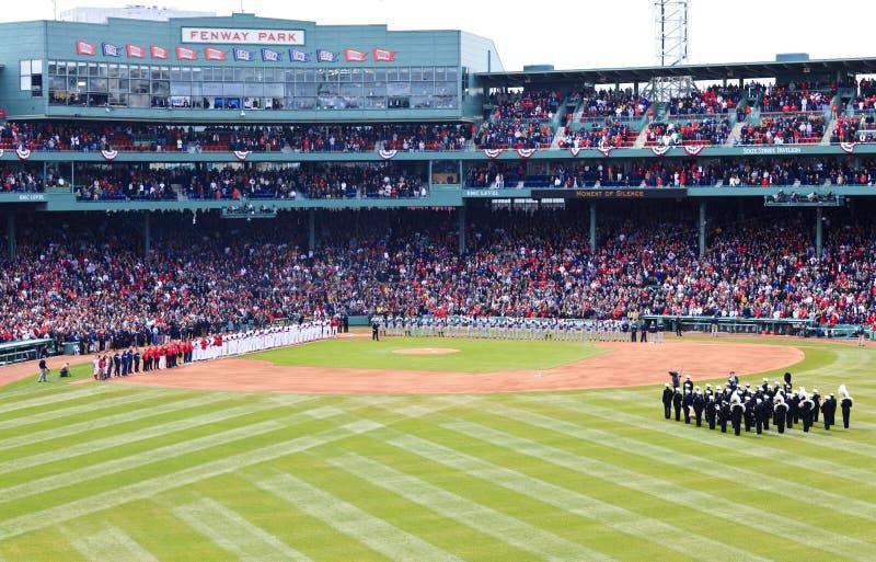 Red Sox und Yankees Fenway 2001 lizenzfreies stockfoto