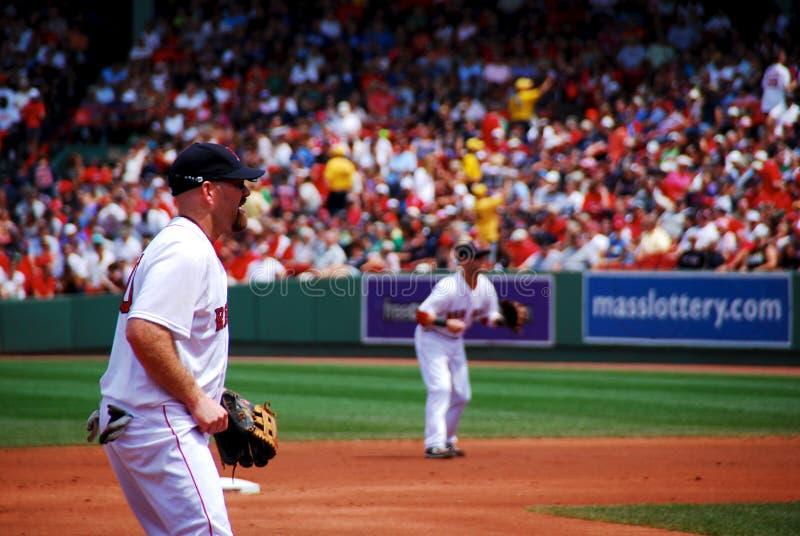 Red Sox Youkilis fotografie stock