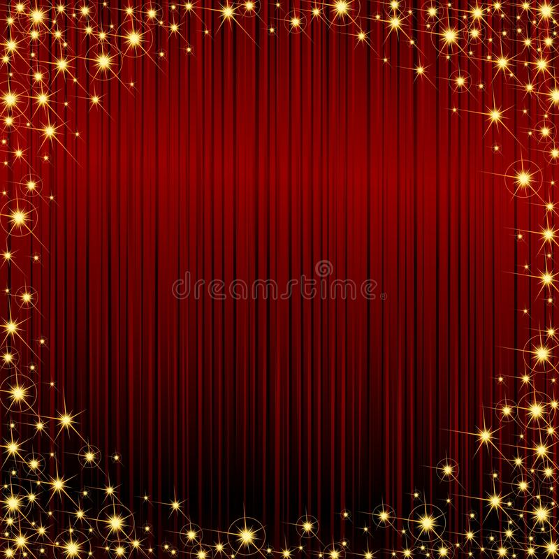 Red Sparkly Frame Royalty Free Stock Photos