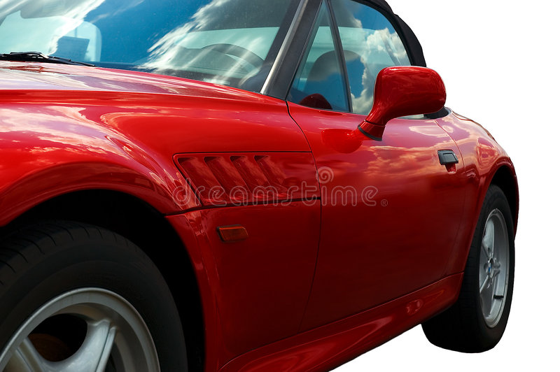 Red Speedster stock photography