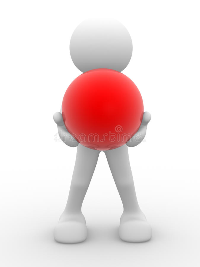Red Sphere Royalty Free Stock Images
