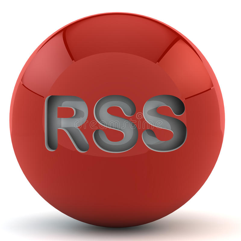 Download Red sphere with RSS stock illustration. Image of framework - 18032460