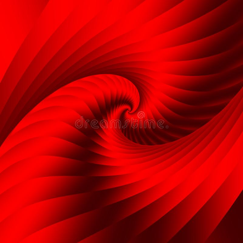 Red spiral element. Beautiful abstract background. royalty free illustration