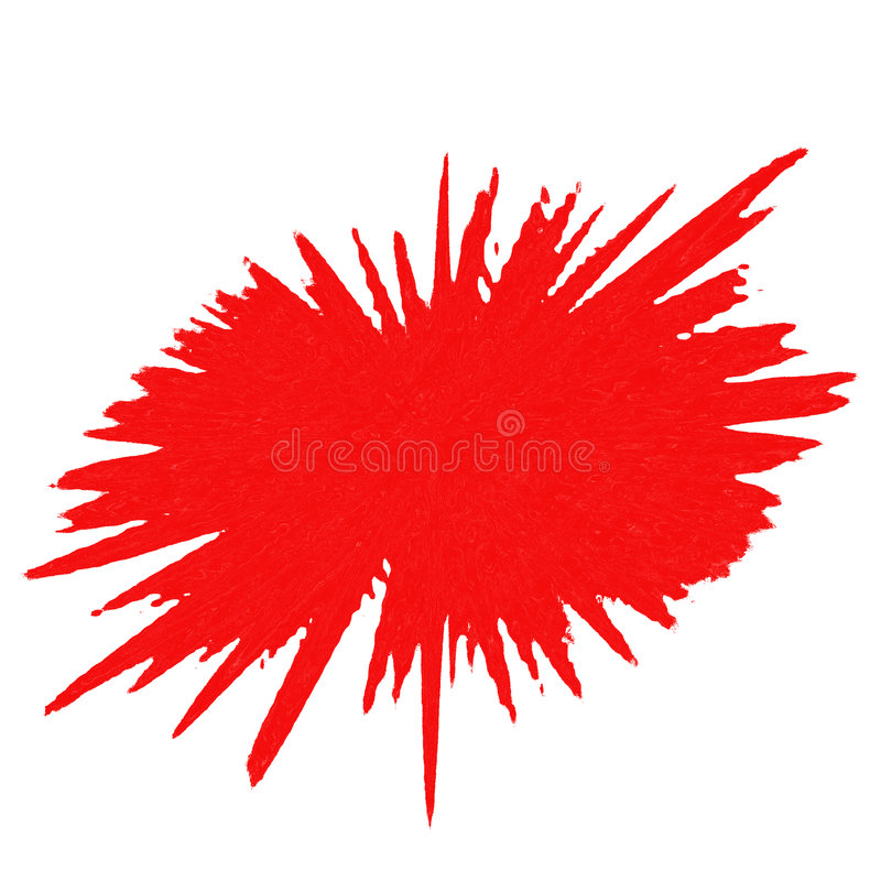 Red Splash stock illustration
