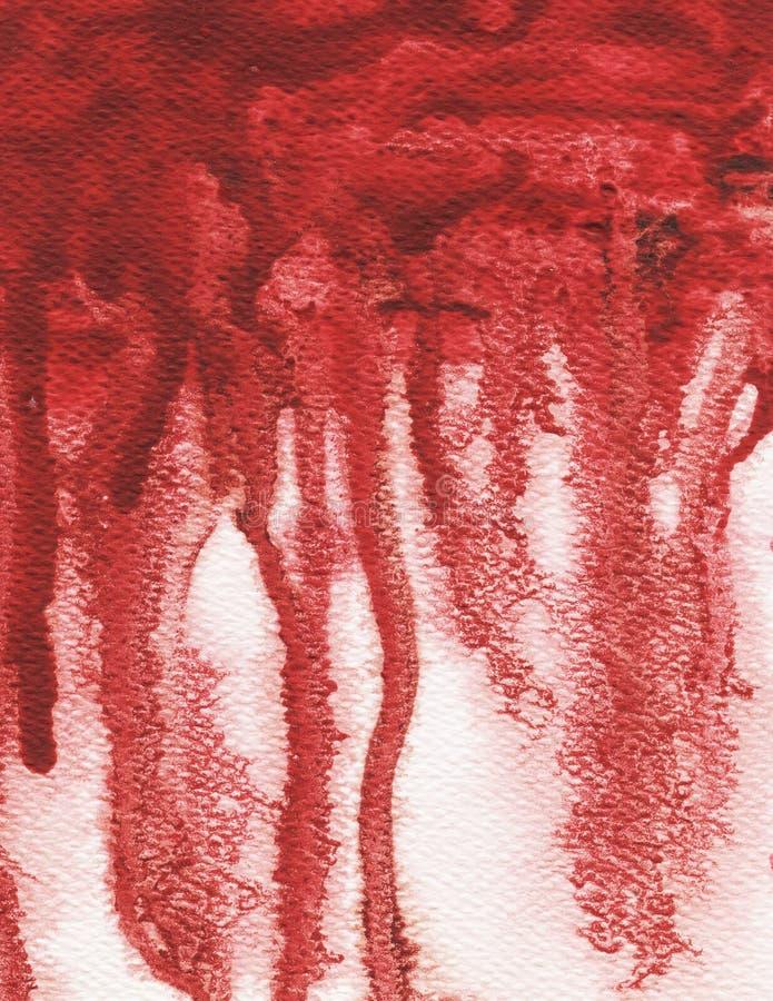 Red splash, watercolor abstract illustration. vector illustration