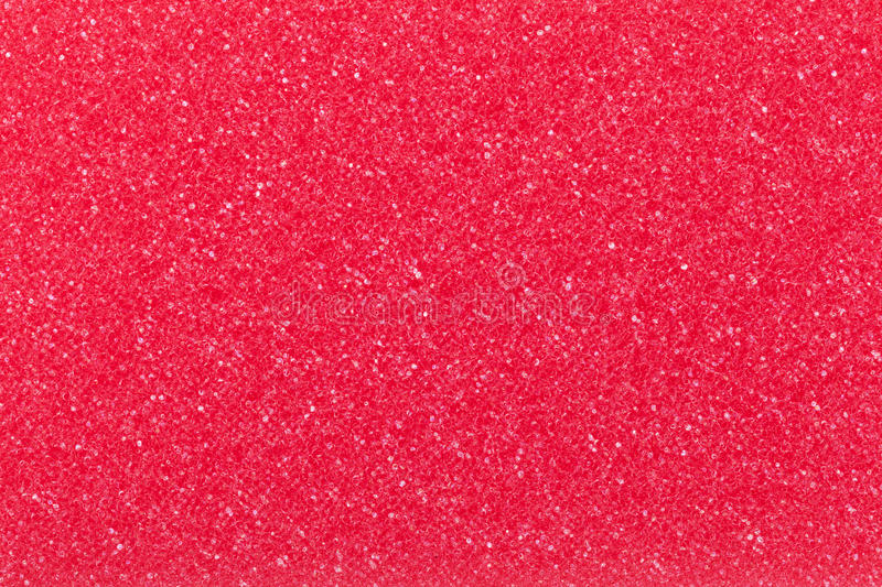 Red sponge. Red cleaning sponge texture for background. Top view stock photography