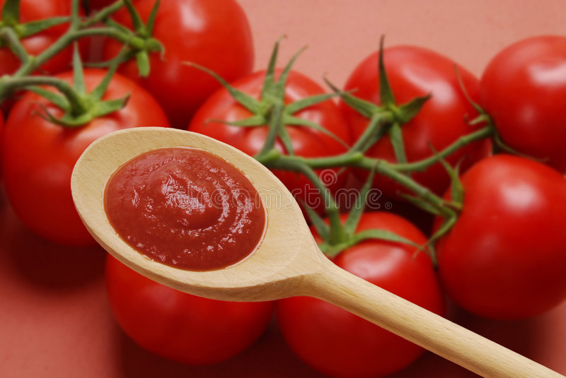 Red spoon. stock image