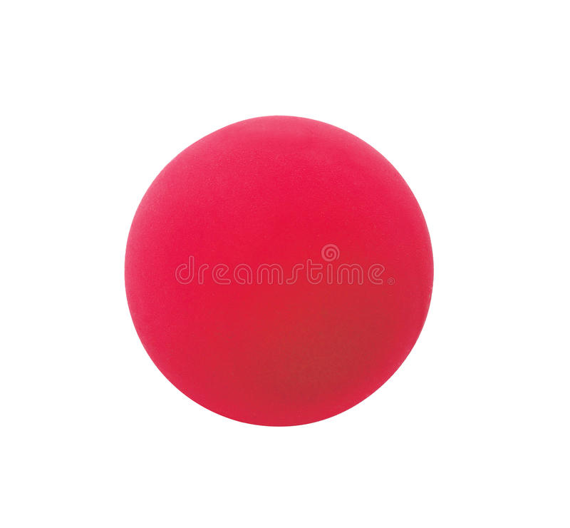 Red sport ball isolated on white stock photo