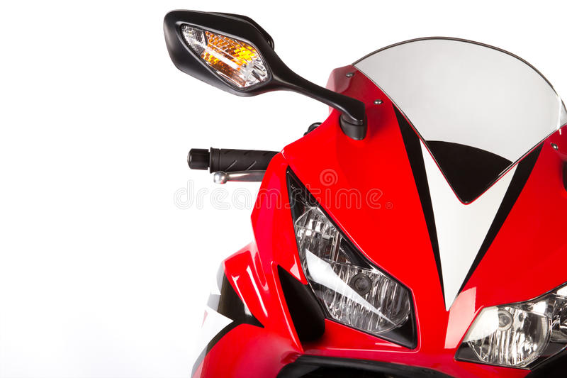 Red sport bike stock photos
